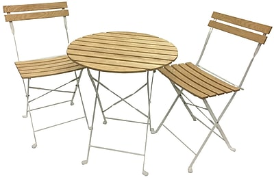 Buyers Choice Phat Tommy Aviara 3 Piece Bistro Set; White