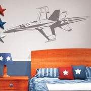 Borders Unlimited Camo Fighter Jet Sudden Shadow Wall Decal by
