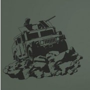 Borders Unlimited Camo Hummvee Sudden Shadow Wall Decal by
