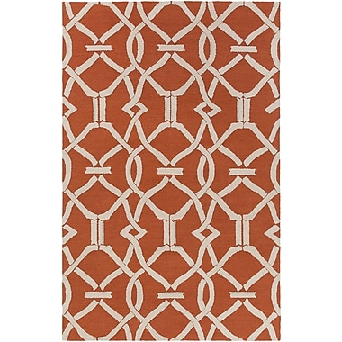 Artistic Weavers Marigold Serena Hand-Crafted Poppy Red Area Rug; 8' x 11'