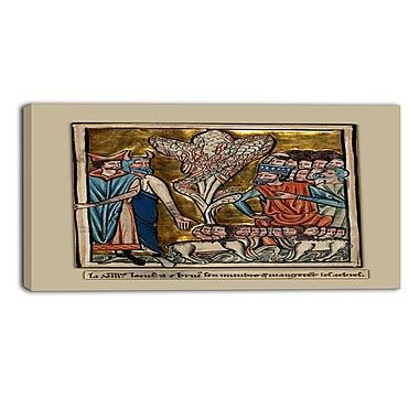 Designart – Toile imprimée de William de Brailes, la huitième plaie (PT5008-20-40)
