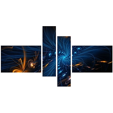 Designart Illumination 4-Panel Abstract Canvas Art Print, 60
