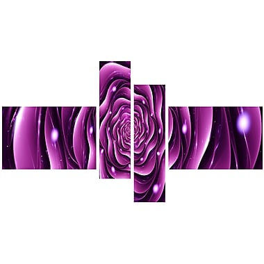 Designart Purple Rose Large Canvas Print, (PT3007-279)