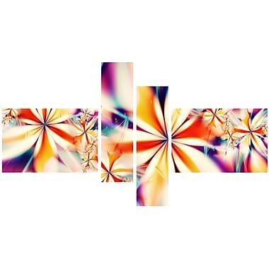 Designart Crystalize Pink Floral Canvas Art Set, (PT3013-279)