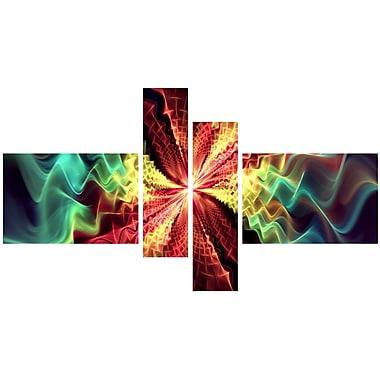 Designart – Imprimé sur toile, abstrait, hypnose, 5 panneaux (PT3029-279)