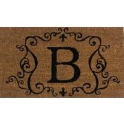 Premier Gift – tapis d'extérieur en fibres coir et vinyle, lettre B, 16 x 27 (po), (GA2RM002)