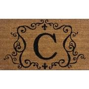 Premier Gift – tapis d'extérieur en fibres coir et vinyle, lettre C, 16 x 27 (po), (GA2RM003)