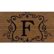 Tapis d'extérieur Premier Gift en fibre de coir, lettre F, vinyle, 16 x 27 (po) (GA2RM006)