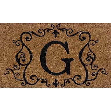 Tapis d'extérieur Premier Gift en fibre de coir, lettre G, vinyle, 16 x 27 (po) (GA2RM007)