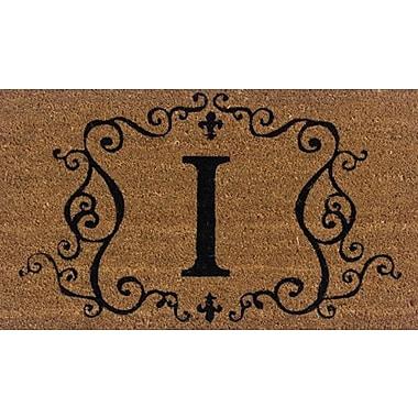 Tapis d'extérieur Premier Gift en fibre de coir, lettre I, vinyle, 16 x 27 (po) (GA2RM009)