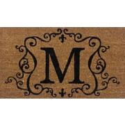 Tapis d'extérieur Premier Gift en fibre de coir, lettre M, vinyle, 16 x 27 (po) (GA2RM013)