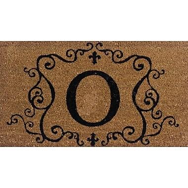Tapis d'extérieur Premier Gift en fibre de coir, lettre O, vinyle, 16 x 27 (po) (GA2RM015)