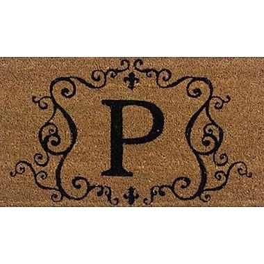 Premier Gift Coir Fiber Outdoor Mat, Letter P, Vinyl, 16