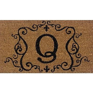 Tapis d'extérieur Premier Gift en fibre de coir, lettre Q, vinyle, 16 x 27 (po) (GA2RM017)