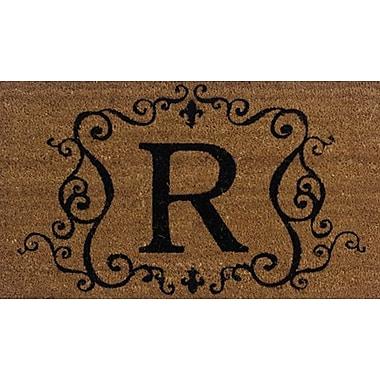 Tapis d'extérieur Premier Gift en fibre de coir, lettre R, vinyle, 16 x 27 (po) (GA2RM018)