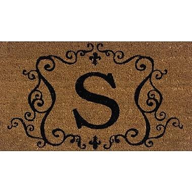 Tapis d'extérieur Premier Gift en fibre de coir, lettre S, vinyle, 16 x 27 (po) (GA2RM019)