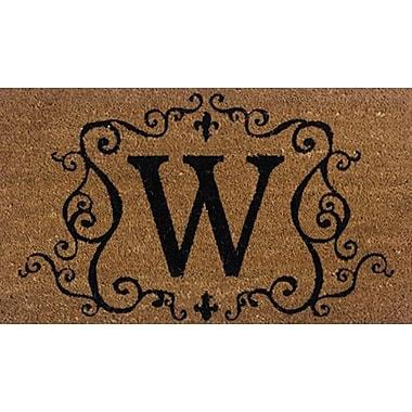 Tapis d'extérieur Premier Gift en fibre de coir, lettre W, vinyle, 16 x 27 (po) (GA2RM023)