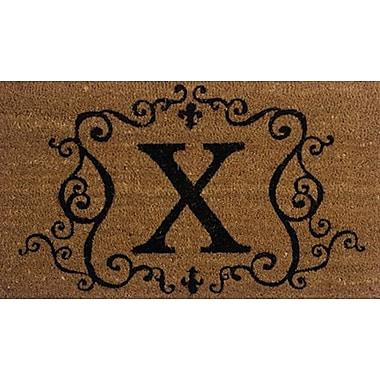 Tapis d'extérieur Premier Gift en fibre de coir, lettre X, vinyle, 16 x 27 (po) (GA2RM024)