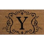 Tapis d'extérieur Premier Gift en fibre de coir, lettre Y, vinyle, 16 x 27 (po) (GA2RM025)