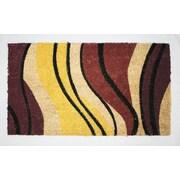 Tapis d'extérieur Premier Gift en fibre de coir, tourbillons, vinyle, 16 x 27 (po) (GA10814)