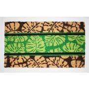 Tapis d'extérieur Premier Gift en fibre de coir, feuille, vinyle, 16 x 27 (po) (GA10815)