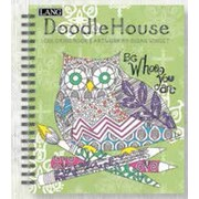 LANG (1020104) Doodle House Spiral Bound Hard Cover Colouring Book
