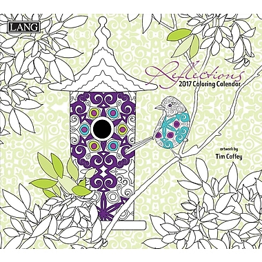 LANG (1020106) Reflections Spiral Bound Hard Cover Colouring Book