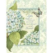 LANG (1013227) Blue Hydrangea 3 Ring Address Book