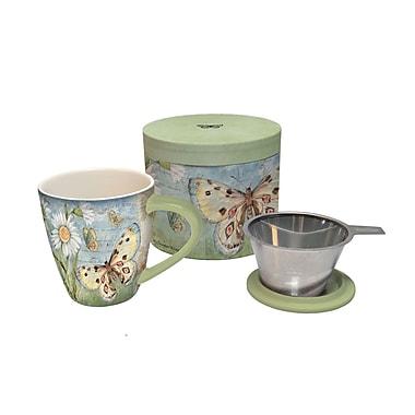 Lang – Tasse de thé à infusion de 17 oz Butterfly Daisy (2160500)
