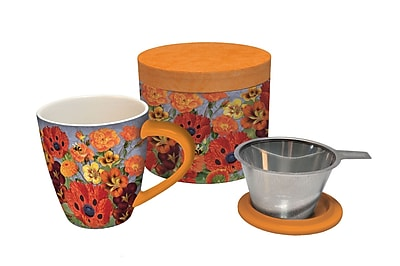 LANG Pretty Poppies Tea Infuser Mug (2160504)
