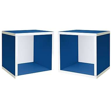 Cathay Importers Single Cube Storage Shelf, Blue, 13.5