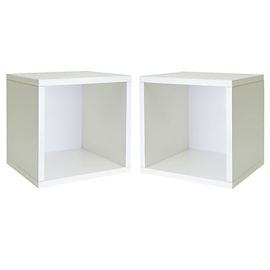 Cathay Importers Single Cube Storage Shelf, White, 13.5
