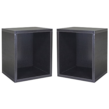 Cathay Importers Cube Plus Storage Shelf, Black, 13.5