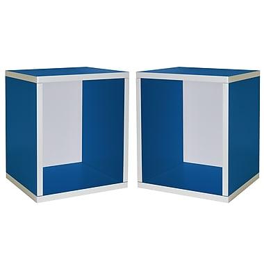Cathay Importers Cube Plus Storage Shelf, Blue, 13.5