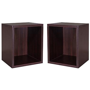 Cathay Importers Cube Plus Storage Shelf, Espresso, 13.5