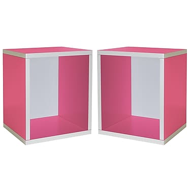 Cathay Importers Cube Plus Storage Shelf, Pink, 13.5