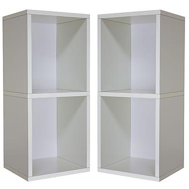 Cathay Importers Double Cube Plus Storage Shelf, White, 13.5
