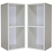 "Cathay Importers Double Cube Plus Storage Shelves, 13.5""W x 11""D x 30.5""H"
