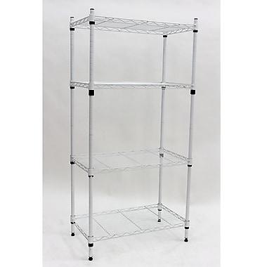 Cathay Importers 4-Tier Wire Storage Shelf, White, 23