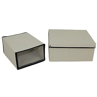 Cathay Importers Fabric Storage and Shoe Box Set, Cream
