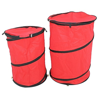 Cathay Importers Fabric Pop Up Hampers, Large and Small, Red