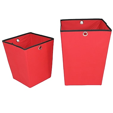 Cathay Importers Fabric Storage Organizers, Large and Small, Red