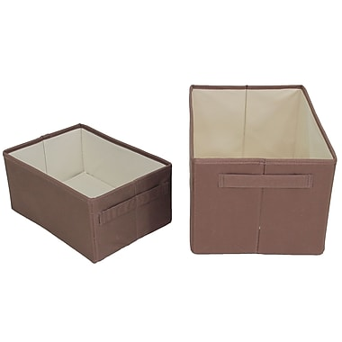 Cathay Importers Polyester Rect Storage Baskets, Brown