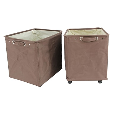 Cathay Importers Polyester Rect Storage Trolley, Brown