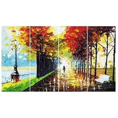 Designart – Imprimé sur toile, paysage, promenade en forêt (PT2027-271)