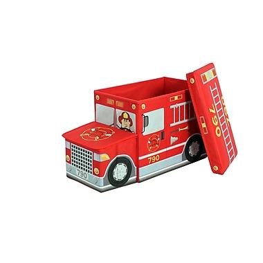 Greenway Greenway Children's Fire Truck Storage Ottoman