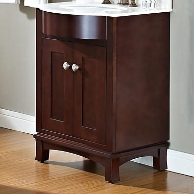 American Imaginations Transitional 23'' Single Bathroom Vanity Base; Brushed Nickel