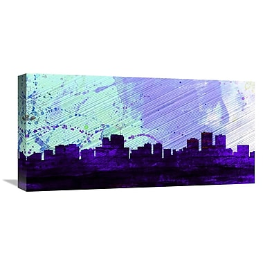Naxart 'Anchorage City Skyline' Painting Print on Wrapped Canvas; 12'' H x 24'' W x 1.5'' D