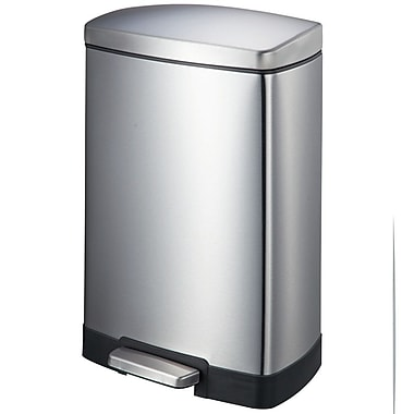 joyware 317 gallon stepon stainless steel trash can