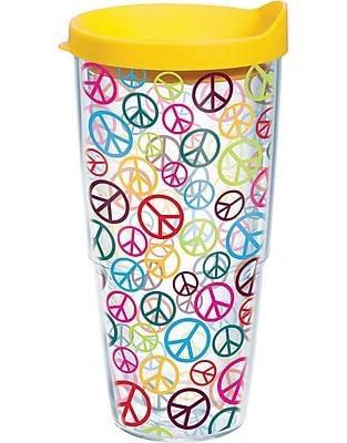 Tervis Tumbler Totally Kids Peace Signs Wrap Plastic Travel Tumbler; 24 oz.